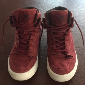 Supra W High Tops Maroon Youth Size US 6
